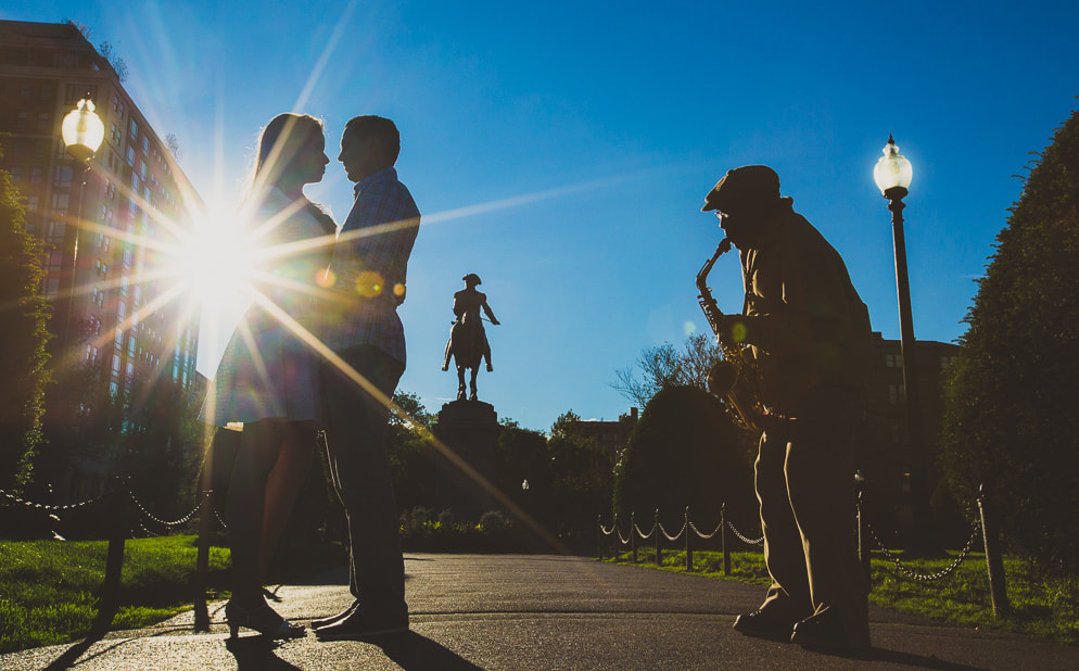 Engagement Photographer in Boston, MA - Public Garden